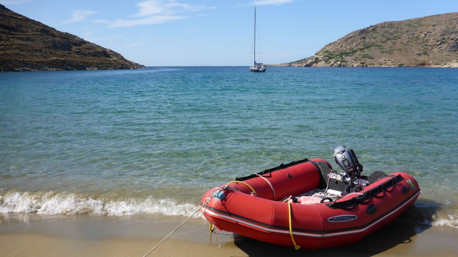 Kythnos, Greece - Our Private Anchorage!