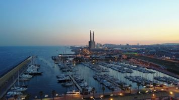 Marina Badalona looking South towards Barcelona