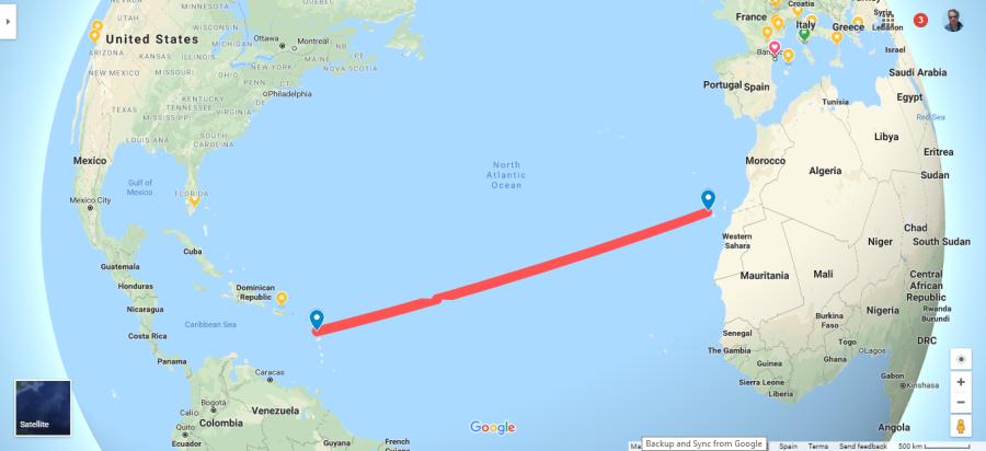 Atlantic Crossing Map