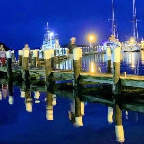 Champlains Marina at Night